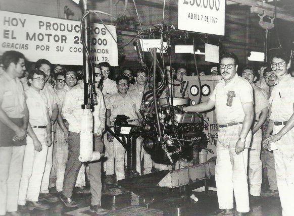 Celebración del Motor 25,0000. Planta de Cuautitlán 7 de abril 1972