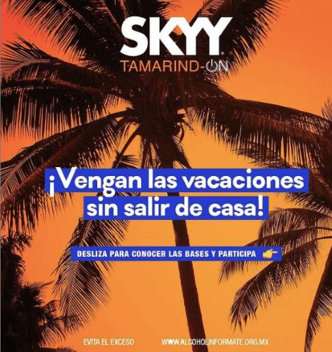 SKYY Tamarind-ON te trae el mood playero sin salir de casa